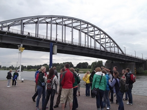 Bridge over the Rhine River at Arnhem, Netherlands